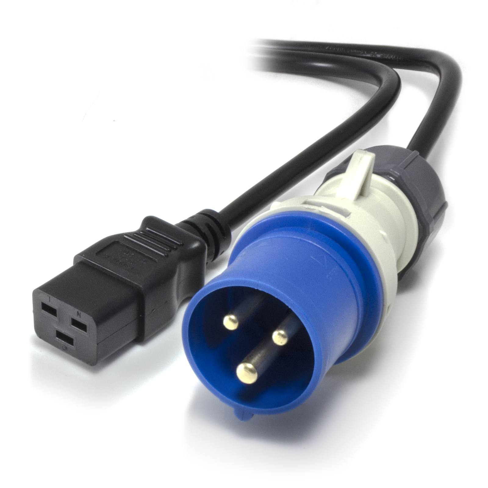 Product Power Cable : M iec c to a pin industrial plug ip power